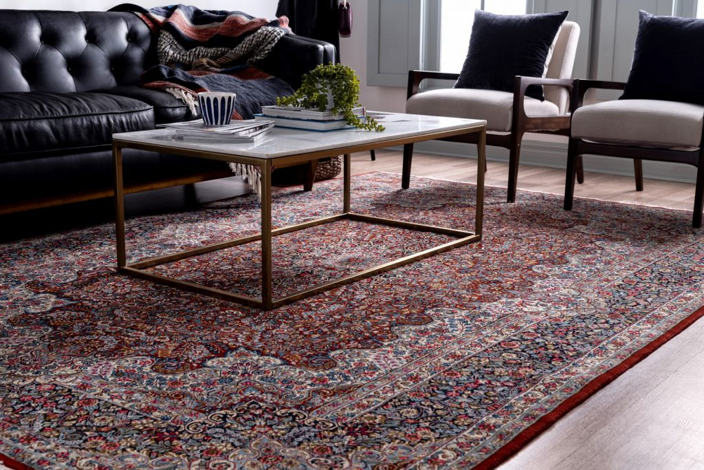 Hand-knotted Kerman Rug