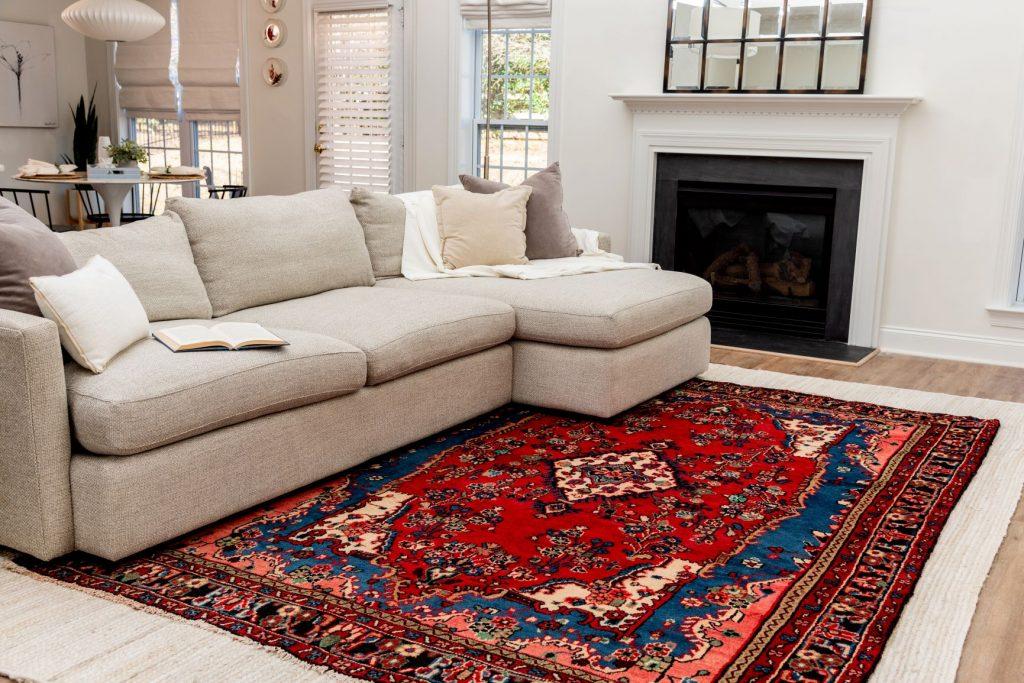 Persian rug layering