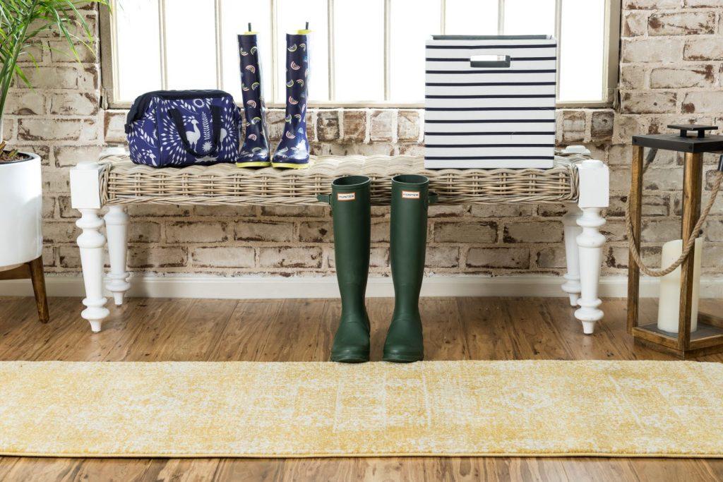 Modern farmhouse style runner rug