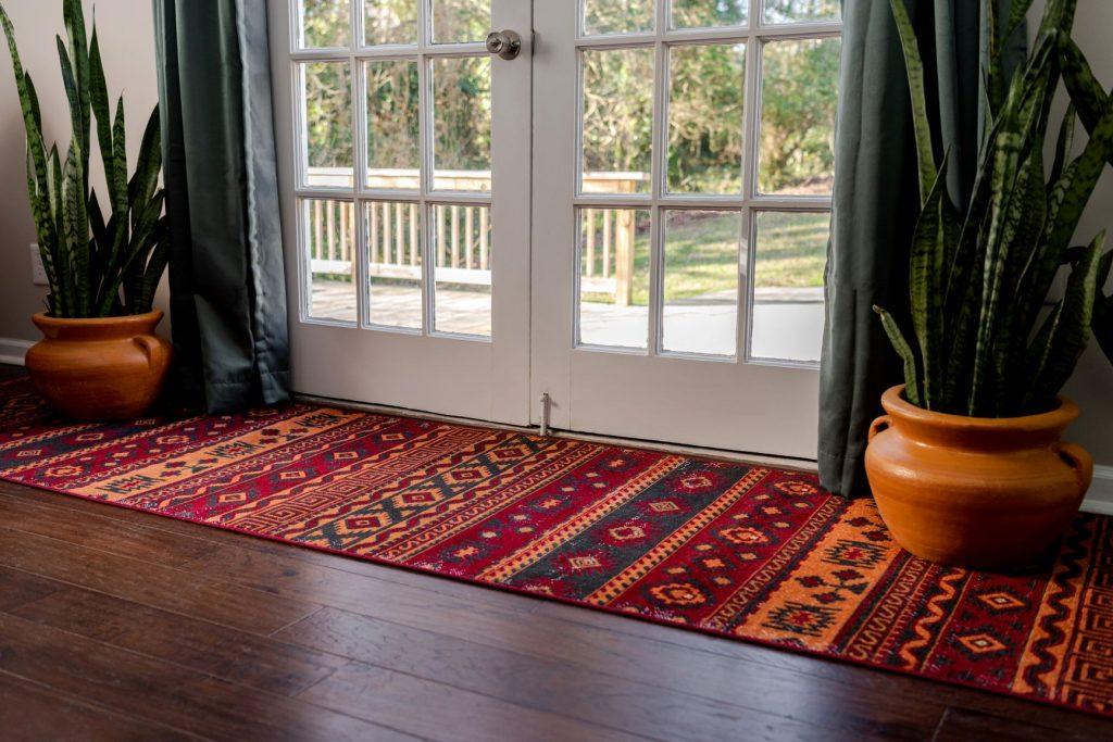 synthetic entryway rug